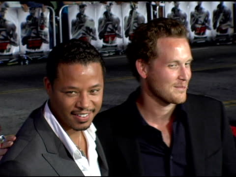 terrence howard and cole hauser at the 'get rich or die tryin' world premiere at grauman's chinese theatre in hollywood, california on november 2,... - terrence howard stock videos & royalty-free footage