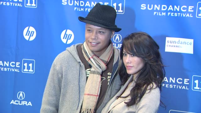 terrence howard and michelle ghent at the 'the ledge' premiere 2011 sundance film festival at park city ut - terrence howard stock videos & royalty-free footage