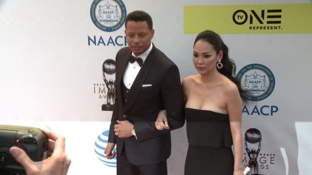 Terrence Howard and Miranda Pak at 48th NAACP Image Awards at Pasadena Civic Auditorium on February 11 2017 in Pasadena California