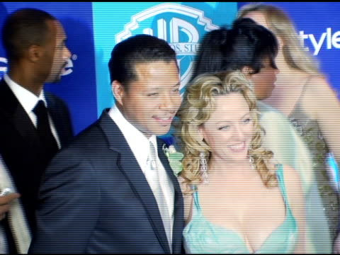 terrence howard and virginia madsen at the instyle/warner brothers golden globes party at the beverly hilton in beverly hills, california on january... - virginia madsen stock videos & royalty-free footage