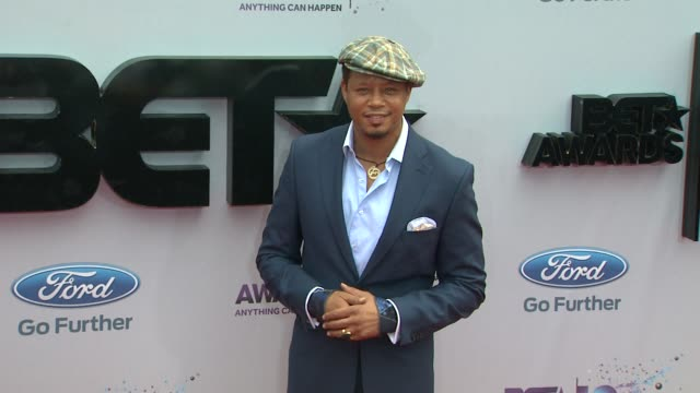 terrence howard at bet 2013 awards arrivals on 6/30/13 in los angeles ca - terrence howard stock videos & royalty-free footage