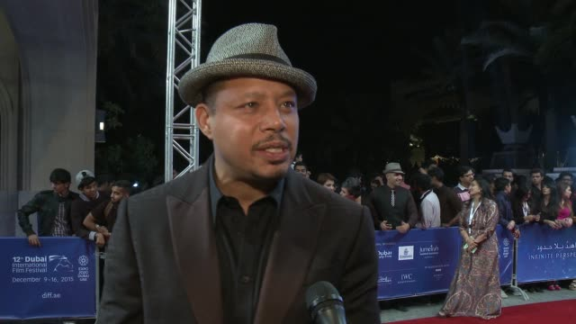 terrence howard at bilal premiere on december 10, 2015 in dubai, united arab emirates. - terrence howard stock videos & royalty-free footage