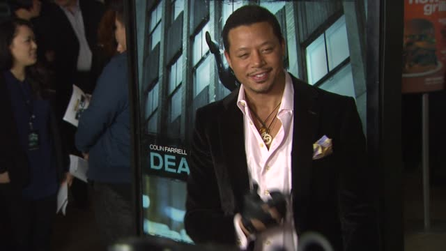 terrence howard at dead man down los angeles premiere 2/26/2013 in hollywood ca - terrence howard stock videos & royalty-free footage