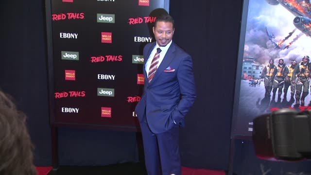 terrence howard at red tails premiere red carpet new york ny united states - terrence howard stock videos and b-roll footage