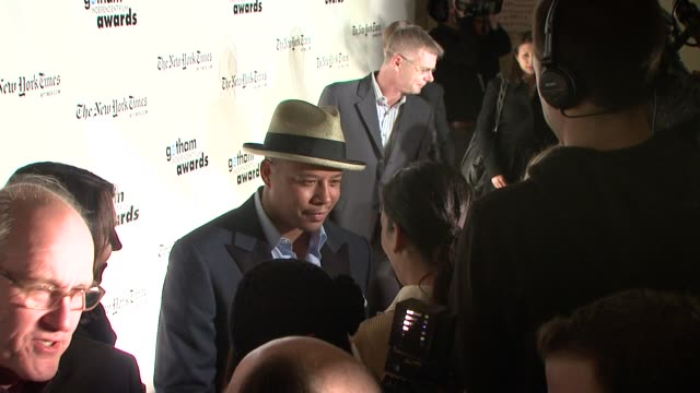 terrence howard at the 18th annual gotham independent film awards at new york ny - terrence howard stock videos and b-roll footage