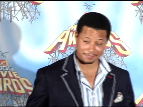terrence howard at the 2005 mtv movie awards press room at the shrine auditorium in los angeles california on june 5 2005 - terrence howard stock videos and b-roll footage