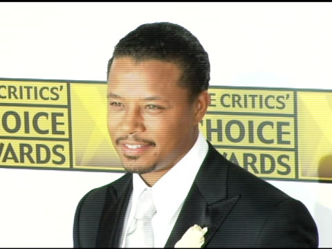 terrence howard at the 2006 critics' choice awards arrivals at santa monica civic auditorium in santa monica california on january 9 2006 - terrence howard stock videos and b-roll footage