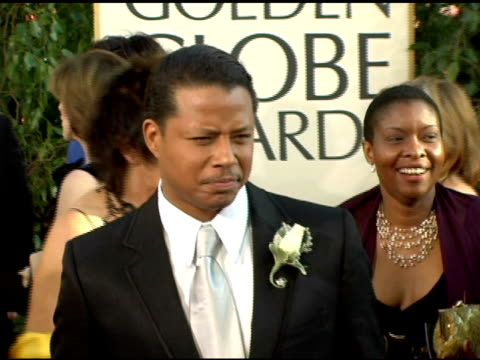 terrence howard at the 2006 golden globe awards arrivals at the beverly hilton in beverly hills california on january 16 2006 - terrence howard stock videos & royalty-free footage