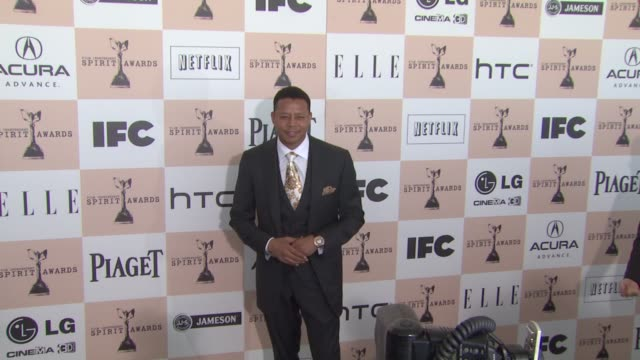 terrence howard at the 2011 independent spirit awards - arrivals part 2 at santa monica ca. - terrence howard stock videos & royalty-free footage