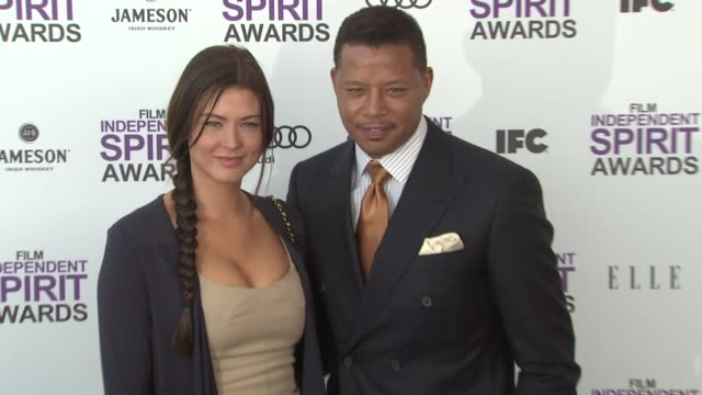 terrence howard at the 2012 film independent spirit awards arrivals on 2/25/12 in santa monica ca - terrence howard stock videos & royalty-free footage
