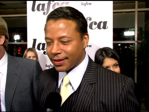 terrence howard at the 31st annual los angeles film critics association awards at the park hyatt hotel in century city california on january 17 2006 - terrence howard stock videos & royalty-free footage