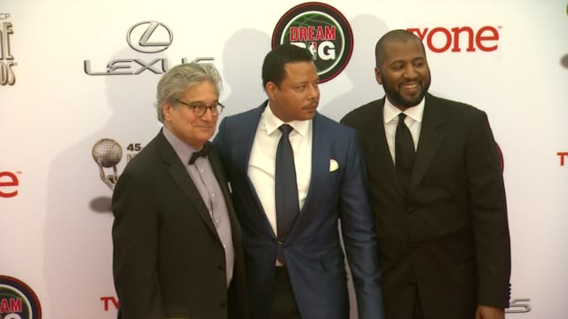 terrence howard at the 45th naacp image awards arrivals at pasadena civic auditorium on february 22 2014 in pasadena california - terrence howard stock videos and b-roll footage