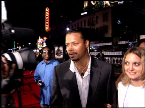 terrence howard at the 'get rich or die trying' premiere at grauman's chinese theatre in hollywood, california on november 2, 2005. - terrence howard stock videos & royalty-free footage