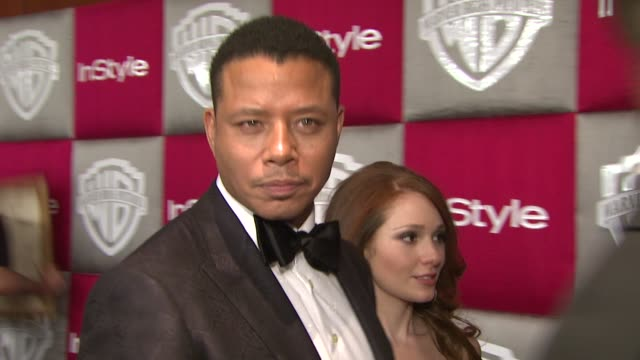 terrence howard at the instyle 2009 golden globes after party part 3 at los angeles ca. - terrence howard stock videos & royalty-free footage