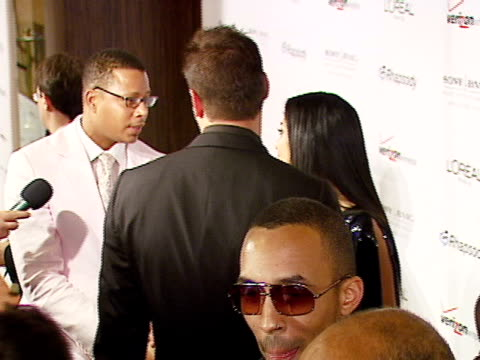 terrence howard at the legendary clive davis pregrammy party at beverly hills california - terrence howard stock videos and b-roll footage