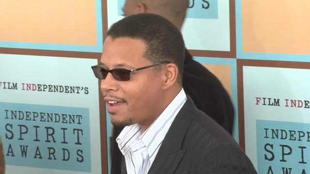 terrence howard at the the 21st annual ifp independent spirit awards in santa monica california on march 4 2006 - ifp independent spirit awards stock videos and b-roll footage