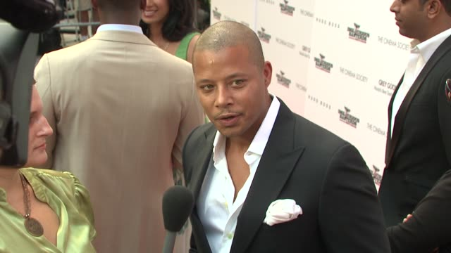 terrence howard at the the cinema society screening of 'inglourious basterds' at new york ny. - terrence howard stock videos & royalty-free footage
