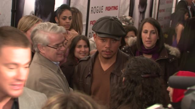 terrence howard at the world premiere of 'fighting' at new york ny. - terrence howard stock videos & royalty-free footage