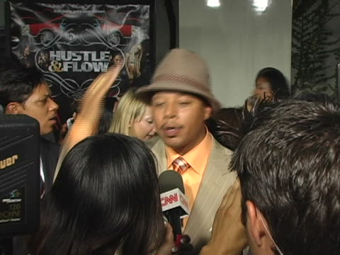 terrence howard interviewed by the press at the hustle & flow los angeles premiere at cinerama dome in hollywood, ca. - terrence howard stock videos & royalty-free footage