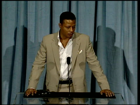 terrence howard on advice from oprah at the 2006 annual academy awards nominees luncheon at the beverly hilton in beverly hills, california on... - terrence howard stock videos & royalty-free footage