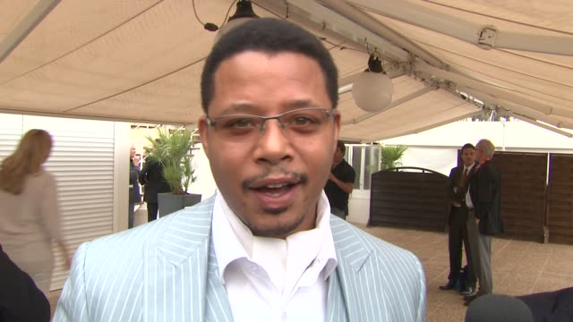 terrence howard on being able to finally enjoy cannes at the winnie cocktail party cannes film festival 2010 at cannes - terrence howard stock videos & royalty-free footage