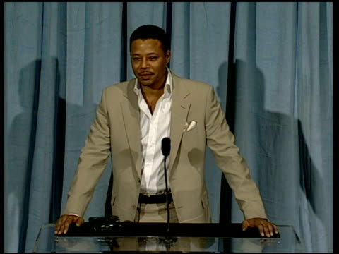 terrence howard on bringing his family to the oscars at the 2006 annual academy awards nominees luncheon at the beverly hilton in beverly hills... - terrence howard stock videos and b-roll footage