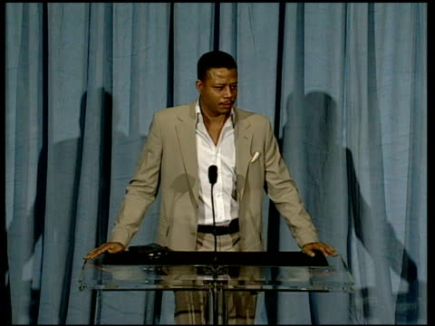terrence howard on finding his character at the 2006 annual academy awards nominees luncheon at the beverly hilton in beverly hills, california on... - terrence howard stock videos & royalty-free footage