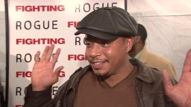 terrence howard on his role, on fighting as a theme, and on working with dito montiel. at the world premiere of 'fighting' at new york ny. - terrence howard stock videos & royalty-free footage