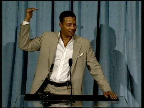 terrence howard on how he is dealing with the nomination at the 2006 annual academy awards nominees luncheon at the beverly hilton in beverly hills,... - terrence howard stock videos & royalty-free footage