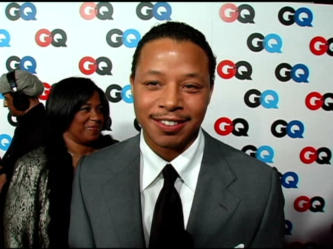 terrence howard on how he would like an oscar nomination and what he would do if he won at the gq's 2005 'men of the year' celebration at mr chow... - terrence howard stock videos and b-roll footage