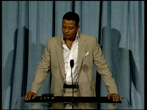 terrence howard on making the film and holding true at the 2006 annual academy awards nominees luncheon at the beverly hilton in beverly hills,... - terrence howard stock videos & royalty-free footage