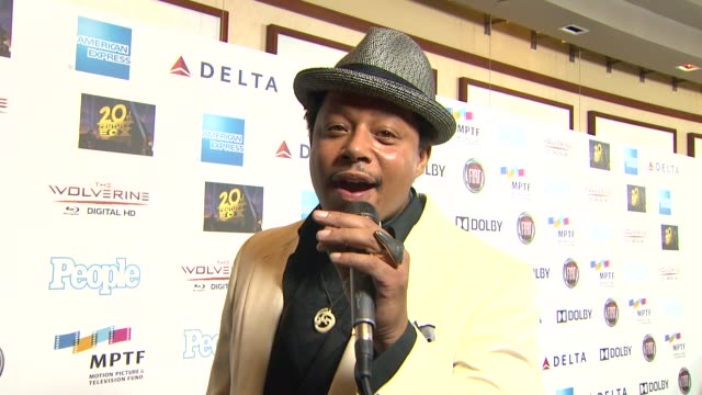 interview terrence howard on the event and hugh jackman at hugh jackman one night only debuts at the dolby theatre benefiting mptf on 10/12/13 in los... - terrence howard stock videos & royalty-free footage