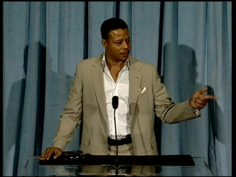 terrence howard on the song in the film at the 2006 annual academy awards nominees luncheon at the beverly hilton in beverly hills california on... - terrence howard stock videos and b-roll footage