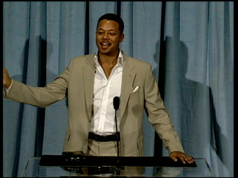 terrence howard on the song 'it's hard out here for a pimp' at the 2006 annual academy awards nominees luncheon at the beverly hilton in beverly... - terrence howard stock videos and b-roll footage