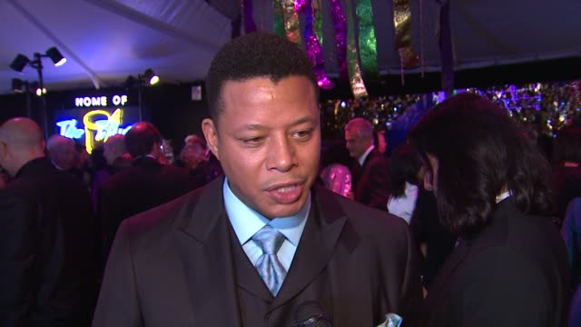 terrence howard on what brings him out if he's been to the gala in the past his thoughts on occupy wall street what he has to say to quincy jones and... - debbie allen stock videos & royalty-free footage