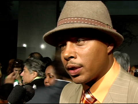 vídeos y material grabado en eventos de stock de terrence howard on what his goal was in doing this film, being thankful for all of it, and on why he is so choosy with roles at the 'hustle and flow'... - cinerama dome hollywood
