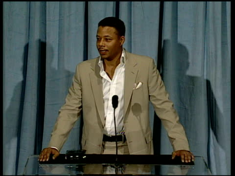 terrence howard on what oscar means to him at the 2006 annual academy awards nominees luncheon at the beverly hilton in beverly hills, california on... - terrence howard stock videos & royalty-free footage