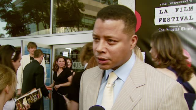 terrence howard on why clint eastwood deserves the award at the spirit of independence award ceremony honoring clint eastwood at billy wilder theater... - terrence howard stock videos & royalty-free footage