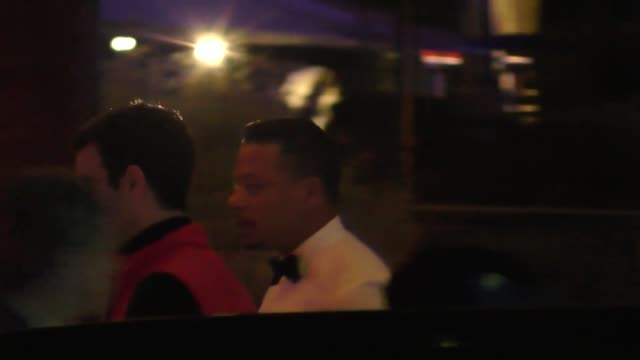 terrence howard outside the vanity fair oscar party in celebrity sightings in los angeles - terrence howard stock videos & royalty-free footage