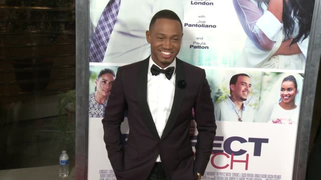 terrence j at the perfect match los angeles premiere at arclight cinemas on march 07 2016 in hollywood california - arclight cinemas hollywood stock videos & royalty-free footage