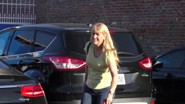 terri irwin at dancing with the stars rehearsal studio in hollywood at celebrity sightings in los angeles on october 06, 2015 in los angeles,... - terri irwin stock videos & royalty-free footage