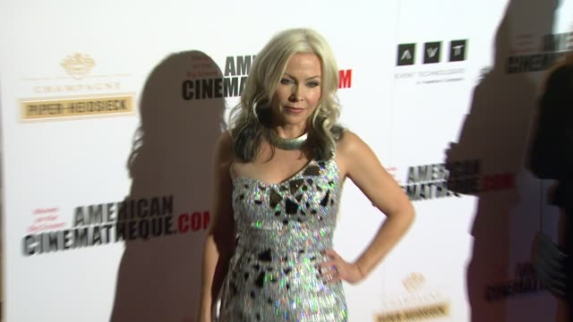 terri nunn at american cinematheque's 27th annual award presentation honoring jerry bruckheimer in beverly hills ca on - american cinematheque stock videos & royalty-free footage