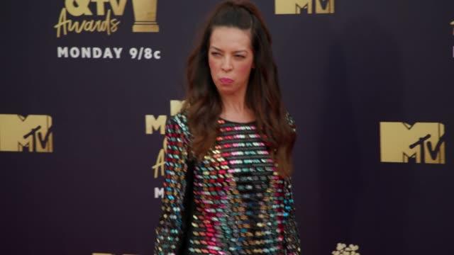 Terri Seymour at 2018 MTV Movie TV Awards Arrivals at Barker Hangar on June 16 2018 in Santa Monica California