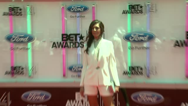 terri seymour at the 2014 bet awards on june 29 2014 in los angeles california - bet awards stock videos and b-roll footage