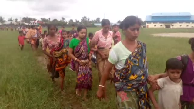 Terrified civilians try to flee remote villages in Myanmar's northern Rakhine State for Bangladesh as clashes which have killed scores continue...