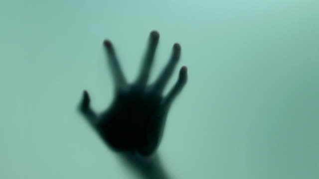 terrified hand - glass material stock videos & royalty-free footage