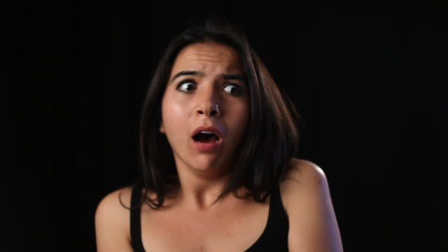 terrified young woman in dark - fear stock videos & royalty-free footage