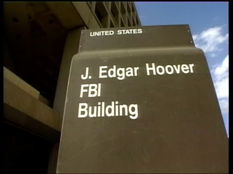 terror suspect detained without trial; lib mat held bureau usa: washington: j edgar hoover fbi building int cia crest on ground inside cia building - fbi stock videos & royalty-free footage