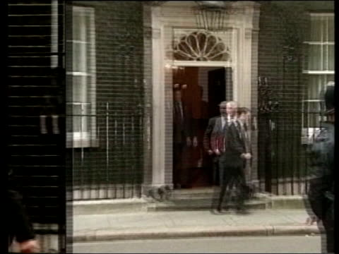 government accused of involving police in lobbying for terror bill; england: london: downing street: ext charles clarke mp leaving no.10 wipe to...... - charles clarke uk politician stock videos & royalty-free footage