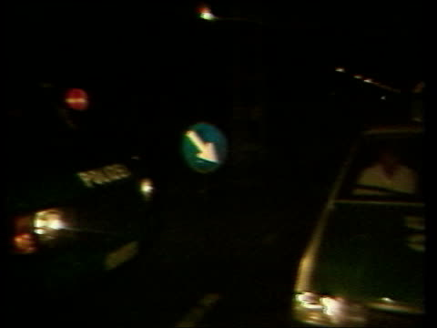 terrorism ira men arrested west germany night c night wgermany tms police van parked as police officer duisberg seated inside pan lr police car tx... - cartridge stock videos & royalty-free footage